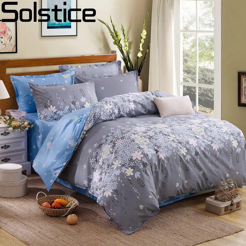 Solstice Fashion Duvet Cover Set Bed Cotton Linens Pillowcase <font><b>4pcs</b></font> Bedding Bed Set Bedding Twin Full Queen Super King 5 size
