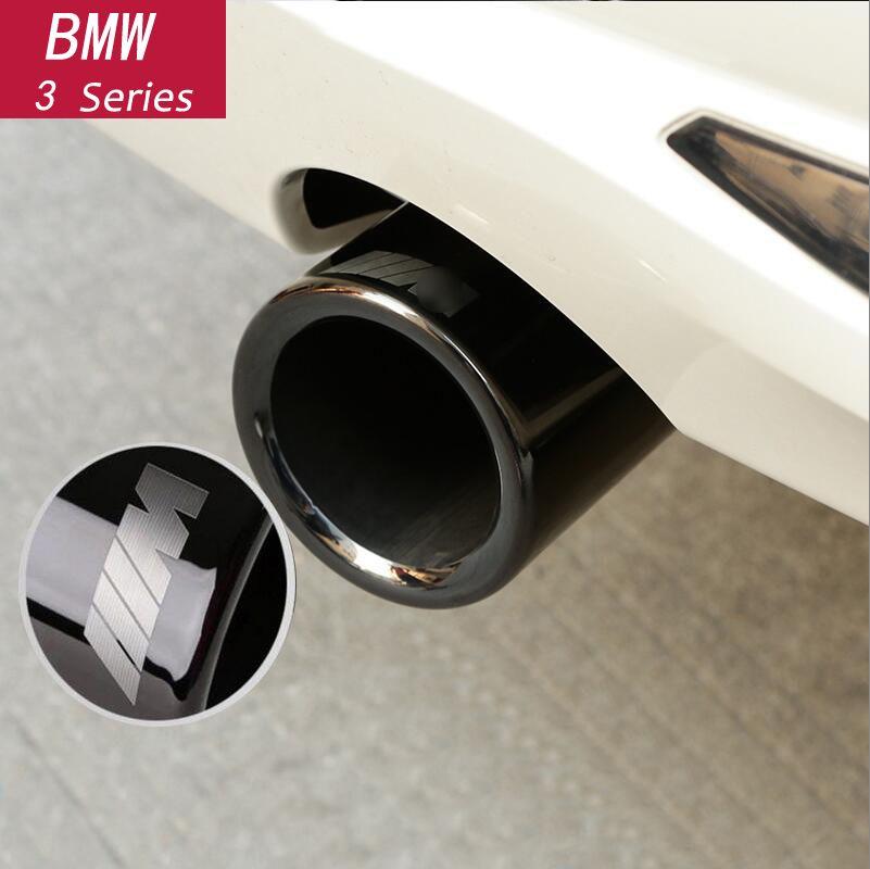 Style de voiture Chrome silencieux d'échappement embout tuyaux tuyau arrière modifié queue gorge Liner pour BMW F10 F30 F32 F34 G30 G11 accessoires