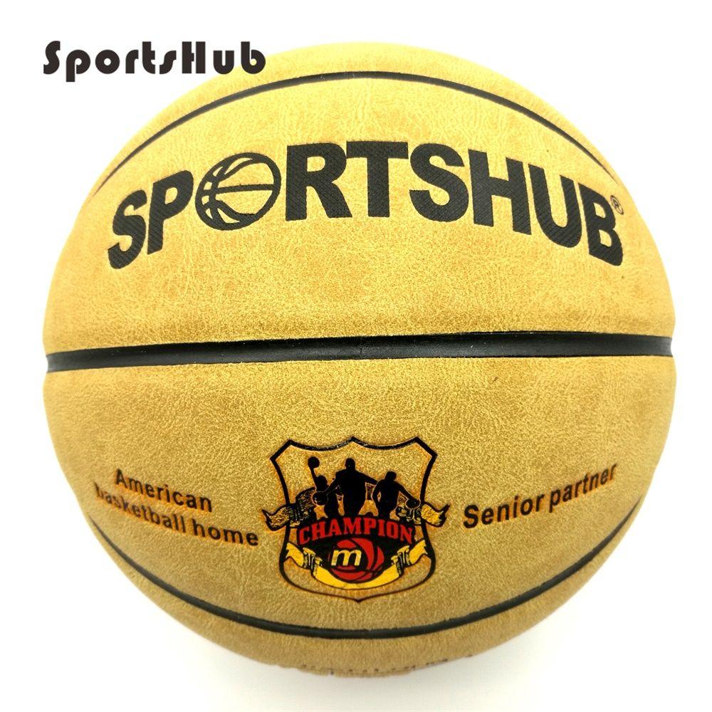 Sportshub SIZE7 Пояса из натуральной кожи дома и улицы против скольжения Спорт Баскетбол мяч антифрикционных Баскетбол 2-Цвета bgs0001