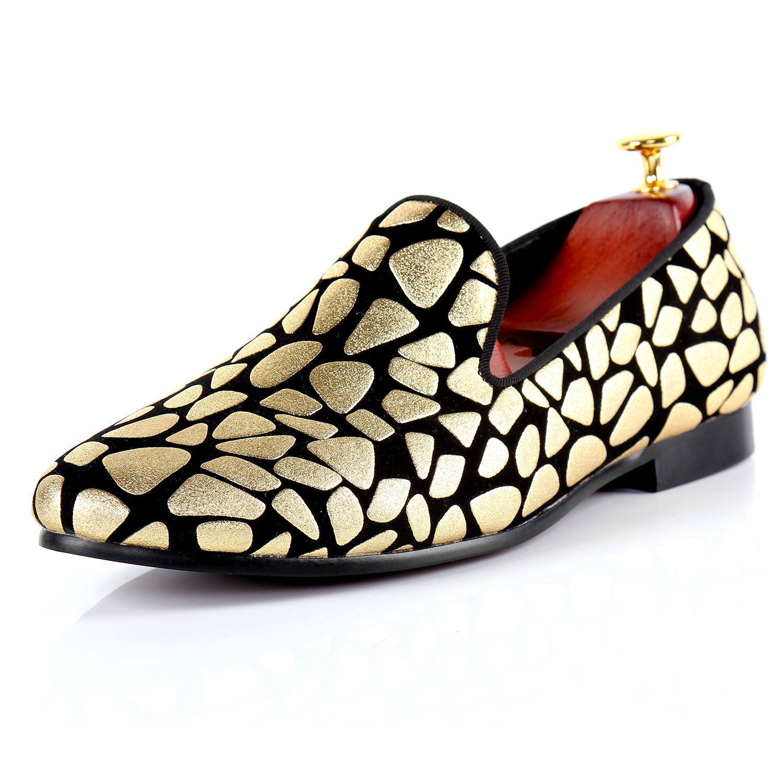 Harpelunde мужские Официальные ботинки Золотой печати с плоским Обувь Лидер продаж свадебные туфли Размеры 7–14