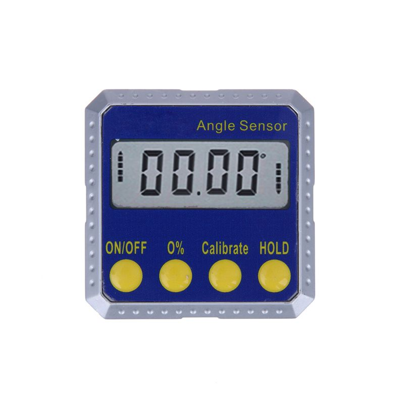 360 Degree Mini Digital Protractor Inclinometer Electronic Angle Gauge Meter with Dual Surface Magnets and Metal Structure
