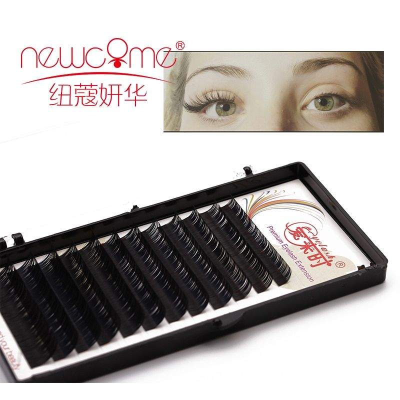 Free Shipping All Size Silk Eye lashes Extension Mink  3D Individual fake False Eyelashes lashes extension for  professional