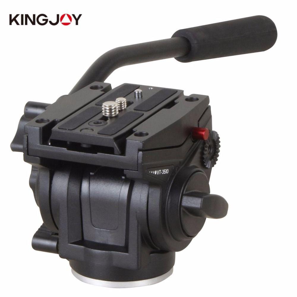 Kingjoy vt-3510 Алюминий сплав Камера жидкости демпфирования головкой для SLR Камера штатив Стенд с UNC 1/4
