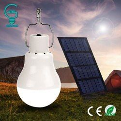Gitex Solar Bulb Lamp 15W 130LM Solar Powered Camping Light 5V Portable Outdoor Solar Energy Charged LED Lighting