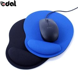 EDAL New Wrist Protect Optical Trackball PC Thicken Mouse Pad Support Wrist Comfort Mouse Pad Mat Mice for Game 2 Colors
