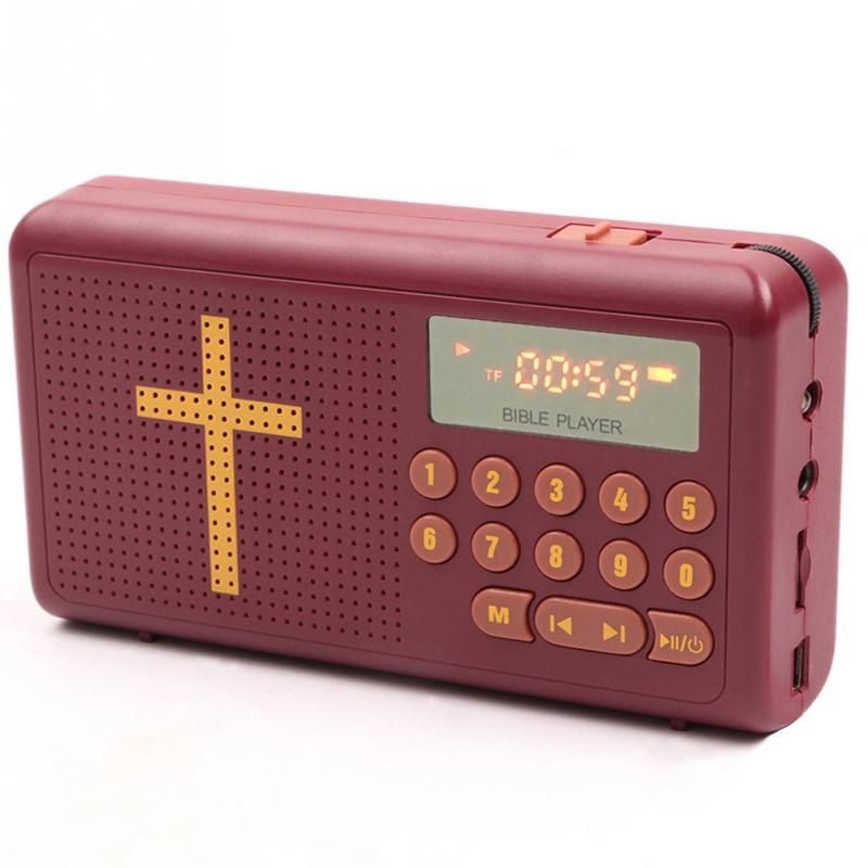 L-938 MP3 audio Bible player speaker support TF/SD card USB flash drive audio input earphone output and FM radio