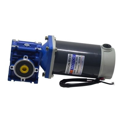 DC12V/24V 200W 5D200GN-NMRV DC gear motor worm gear gearbox high torque gear motor/mechanical equipment/conveyor belt/DIY motor