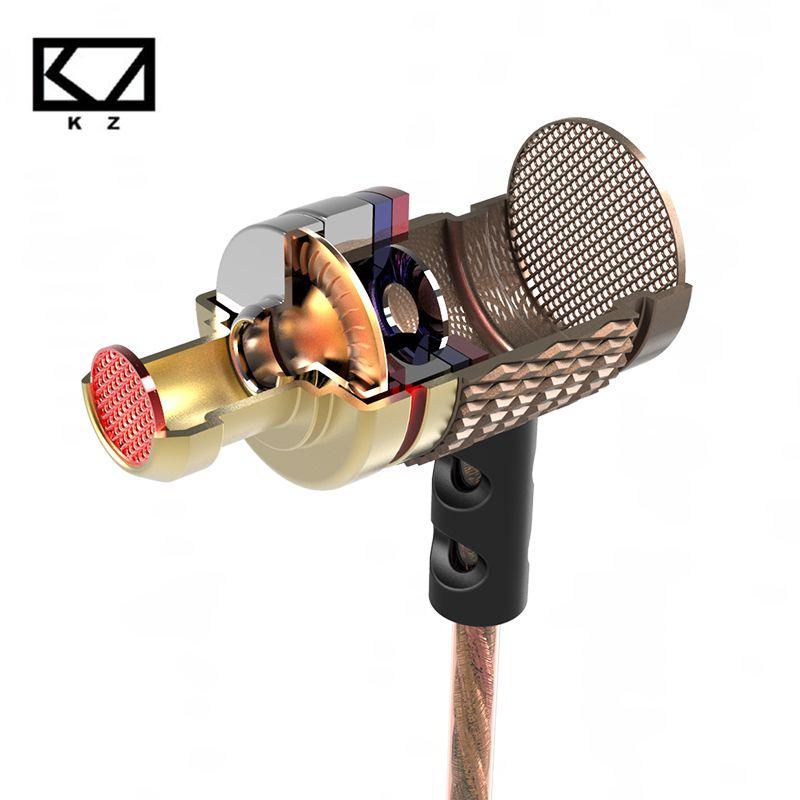 Gute Bass 100% Original Metall In Ohr Kopfhörer KZ EDR1 Hohe Qualität HiFi Sport In-ohr Earbud Ohr Mit Mikrofon
