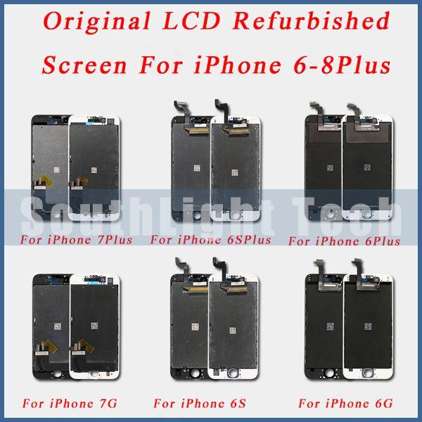 Grade AAA + + + D'origine LCD Remis À Neuf Écran Pour iPhone 6S 7 8 Plus Original DE convertisseur analogique-Numérique D'écran Tactile D'affichage D'affichage À cristaux liquides