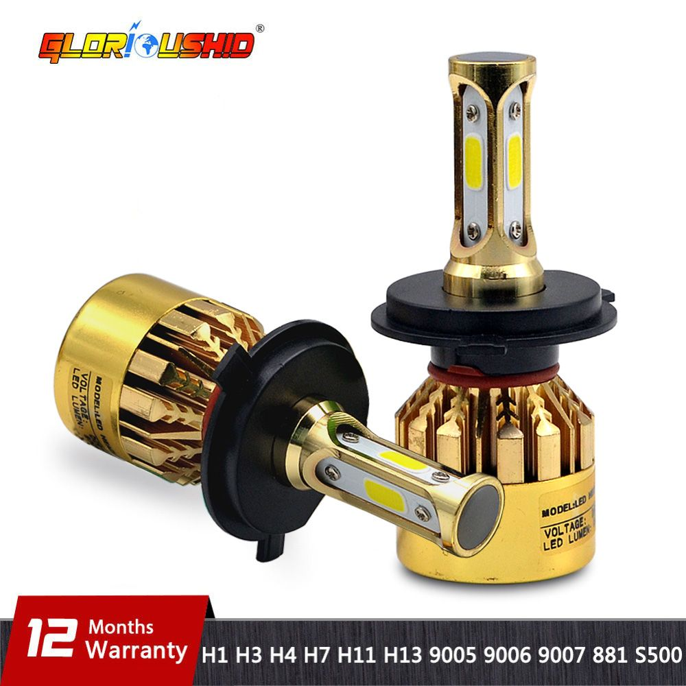 H7 LED H4 H11 H8 H9 H1 H3 H13 <font><b>9005</b></font> HB3 9006 HB4 9007 881 Car LED Headlight 72W 8000LM Auto light Fog Lamp Bulb 6500k Pure White