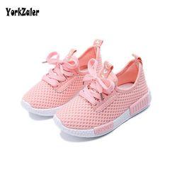 Yorkzaler весна осень детская обувь 2017 модные сетчатые Повседневные детские кроссовки для мальчиков и девочек для малышей дышащая Спортивная о...