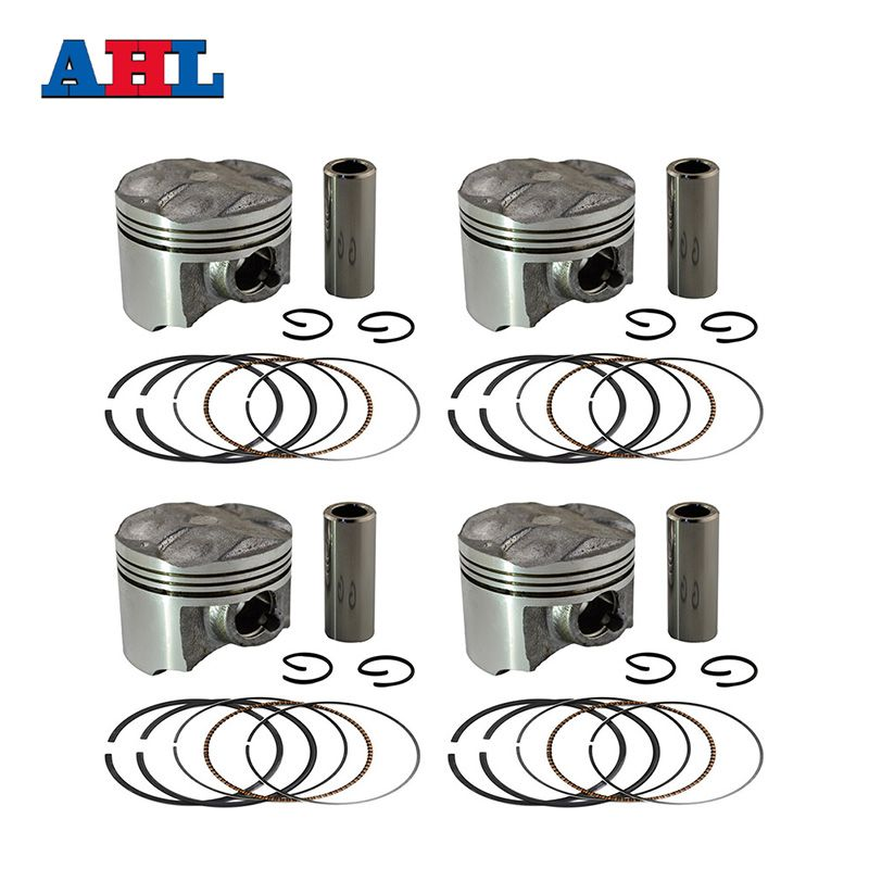 Motorcycle Engine Parts STD~+50 Cylinder Bore Size 48~48.5 mm Pistons & Rings For Yamaha FZR250RR FZR250 FZR 250 RR 3LN ZEAL 250
