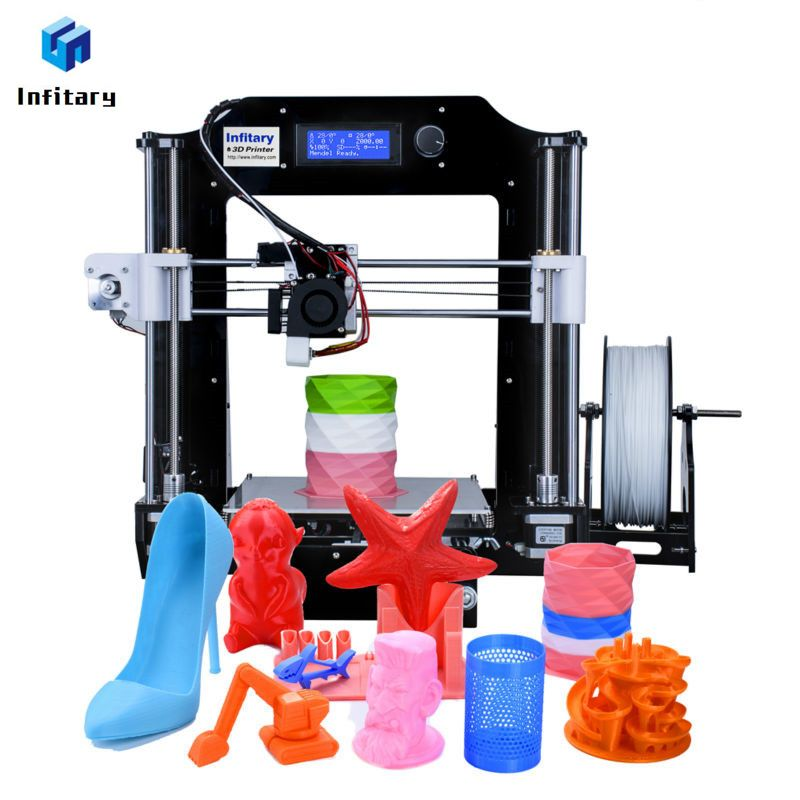 Infitary impresora 3D Kits 2017 Newest Upgrated Printer Large Size 3d Printer With 80M PLA filaments High Quality