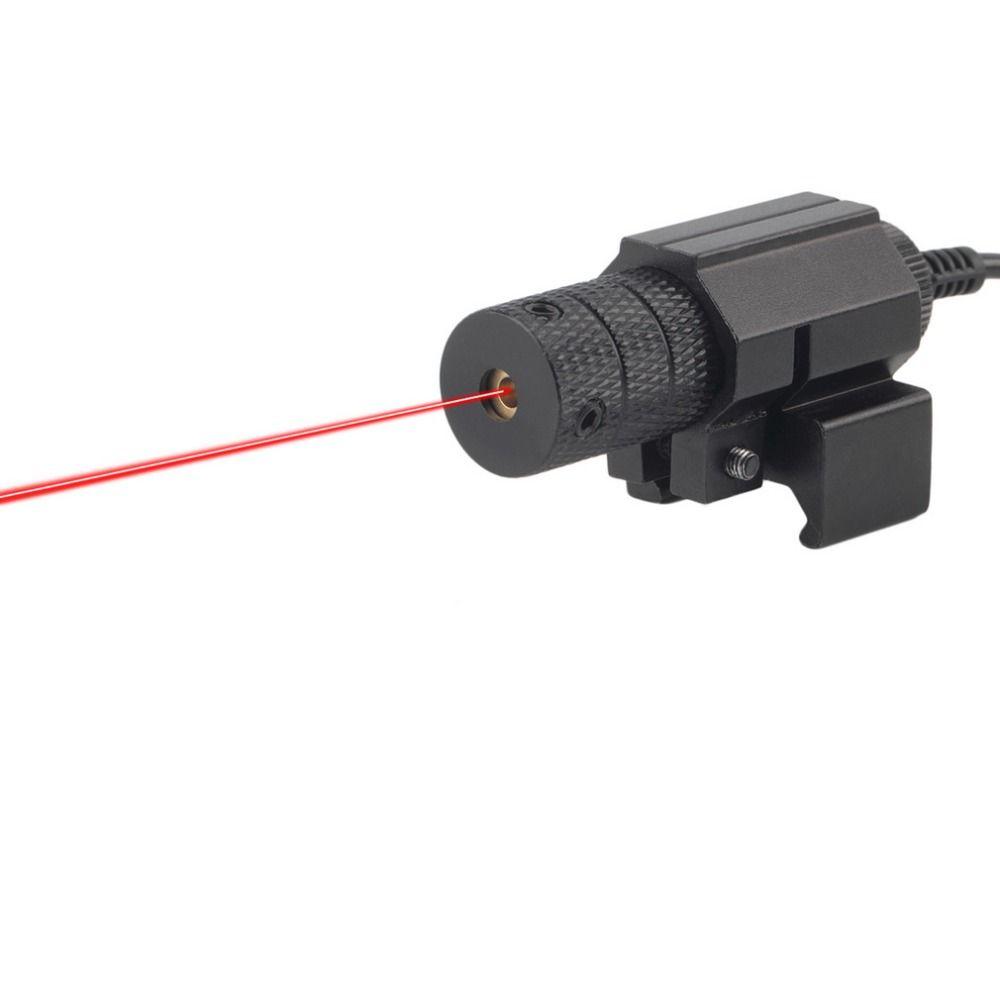 Горячая 1 компл. Тактический Red Dot мини красный лазерный прицел с переключатель хвост пистолетом прицел с удлинить крыса хвост Охотничья опт...