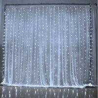 6 m x 3 m 600 LED casa al aire libre vacaciones Navidad decorativa boda Navidad cuerda Hada cortina guirnaldas tira luces de fiesta