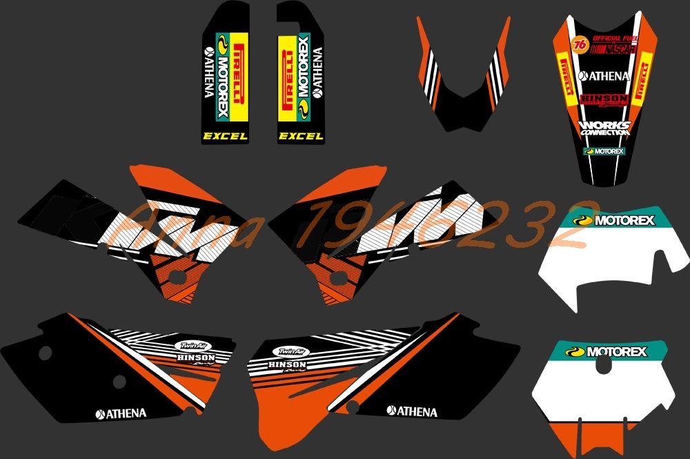 Hot Team Graphics Delcas Stickers For KTM 125 200 250 300 350 400 450 525 SXF MXC SX EXC XC 2005 2006 2007