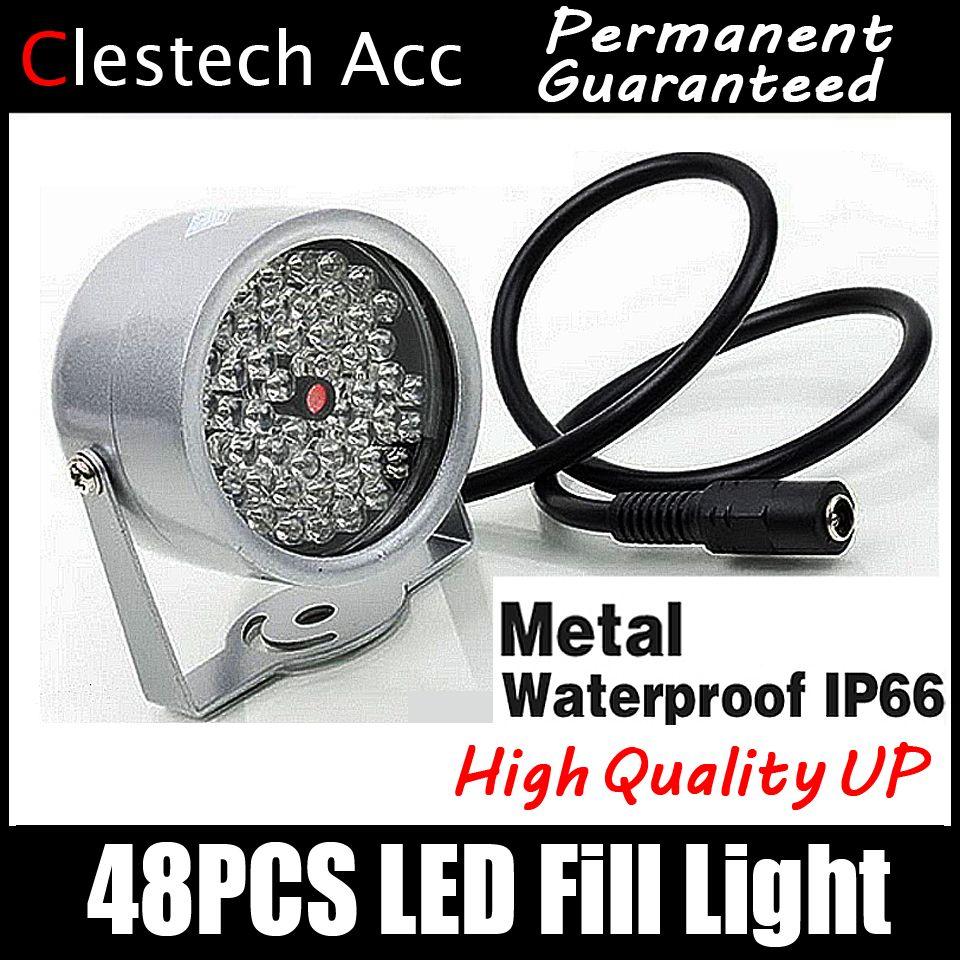 8.28 plus grande vente! 48LED illuminateur IR dôme infrarouge hd vision nocturne amélioration remplissage lumière Vision 40 M lampe Securit 850nm 12 V