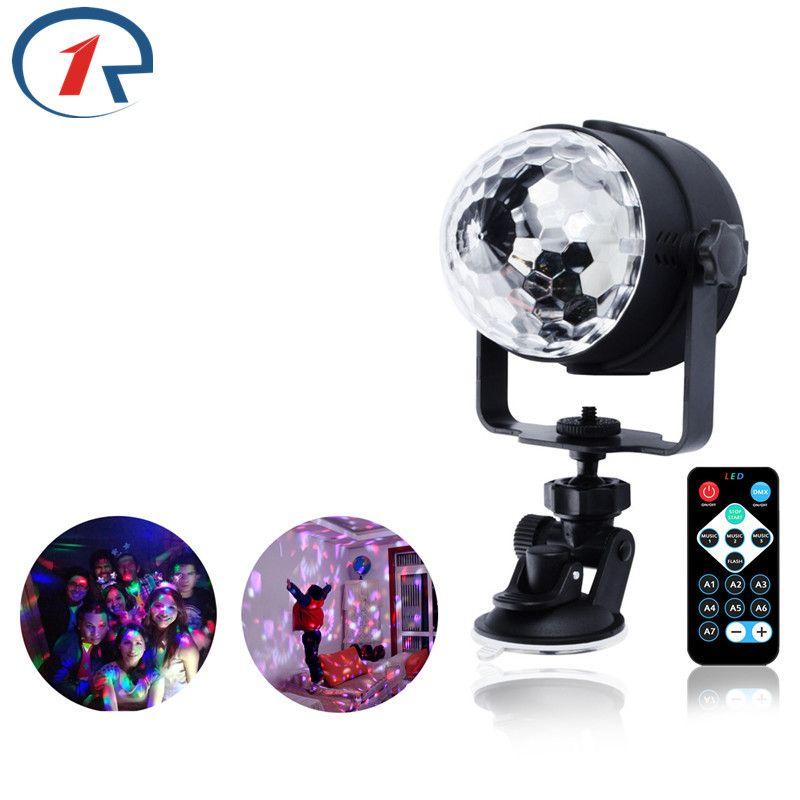 Zjright RGB LED Кристалл магия вращающийся шар сцены USB 5 В красочный КТВ DJ Микшеры подарок бар звук Управление огни