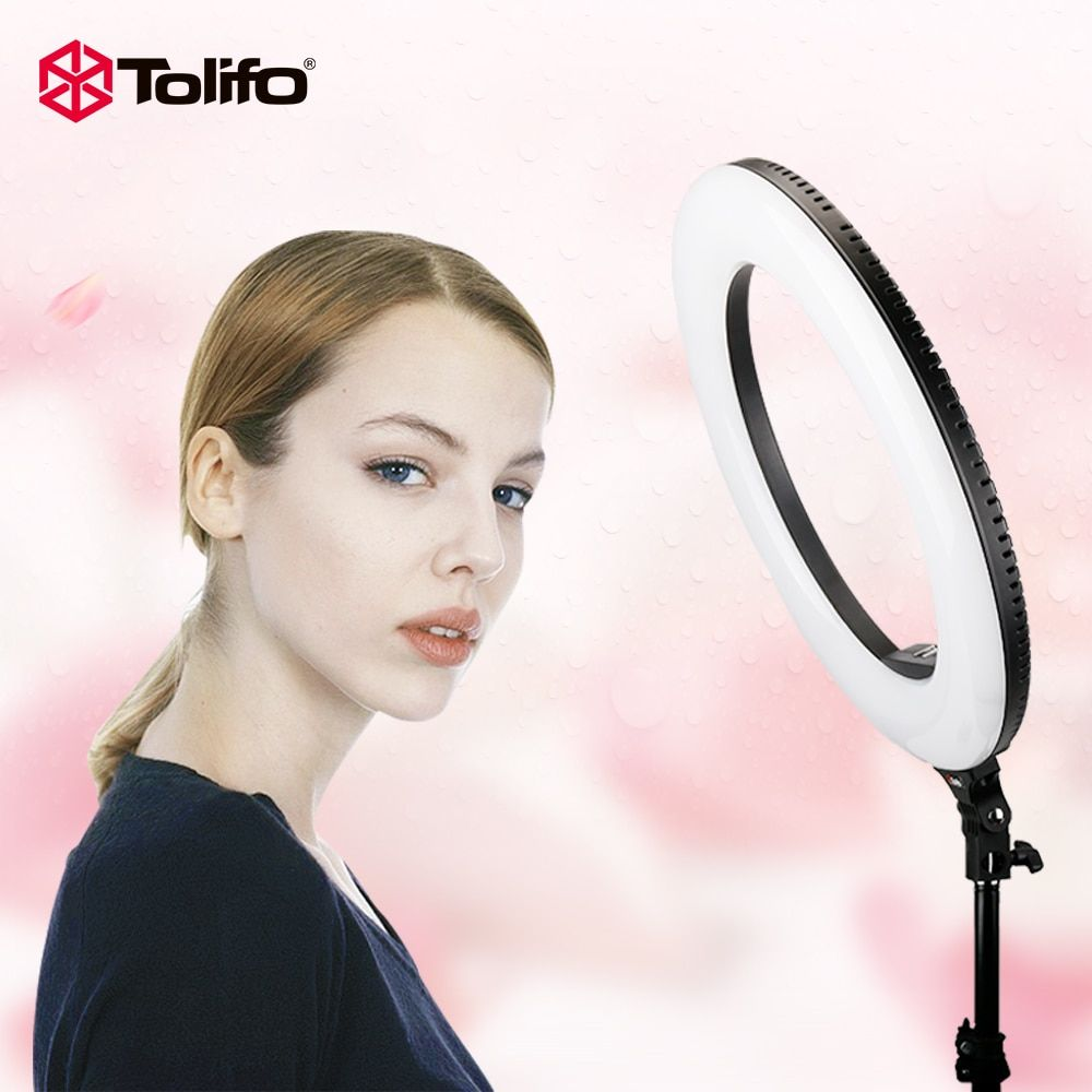 Tolifo R48B 48W Bi-color 2.4G Wireless Remote Control Dimmable Camera/Video/Photography LED Ring Light Two Power <font><b>Supply</b></font> Modes