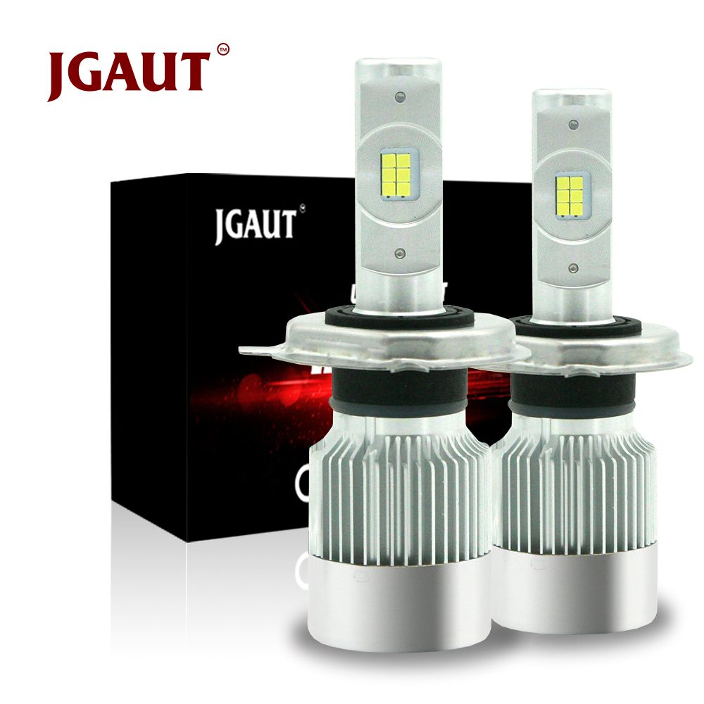 JGAUT Mini H4 Led motorcycle Car LED Headlight CSP H7 H1 H3 H11 880 9005 9006 Turbo 8600lm Auto Bulb Automobile Headlamp