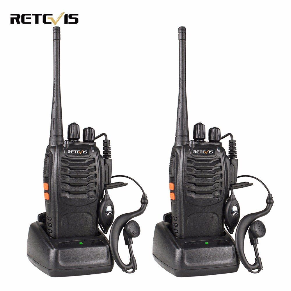 2 pcs Retevis H777 Talkie Walkie 3 W UHF 400-470 MHz Fréquence Radio Portable Ham Radio Hf émetteur-récepteur Handy Two Way Radio
