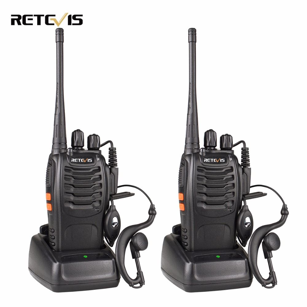 2pcs Retevis H777 Walkie Talkie 3W UHF 400-470MHz Ham Radio Hf Transceiver Portable Handy Two Way Radio Communicator