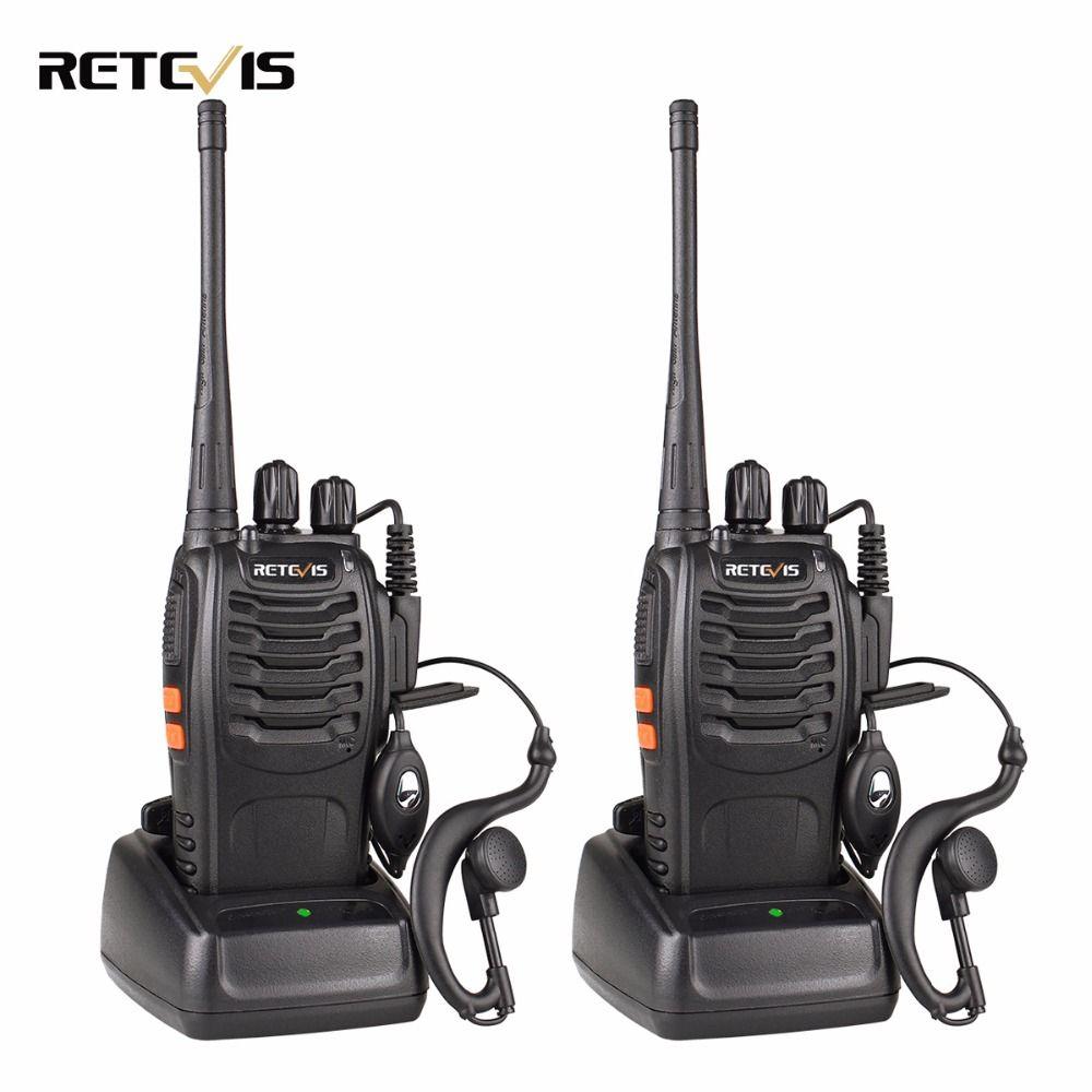 2pcs Retevis H777 Walkie Talkie 3W UHF 400-470MHz Ham Radio Hf Transceiver Two Way Radio Communicator USB Charger Walkie-talkie