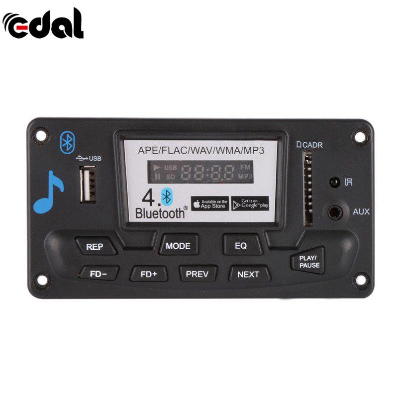 Эдал bluetooth mp3 декодирования доска Модуль 12 В DIY USB/SD/MMC ape flac WAV дэ декодер запись MP3-плееры AUX FM папки переключатель