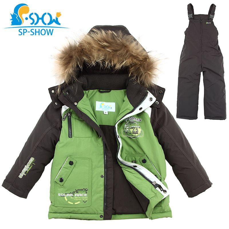 2018 SP-SHOW Luxury Brand Children Winter Children's suit Jacket Boy and Girl Coats Kids Clothing Sets Ski Down & Parkas 0167