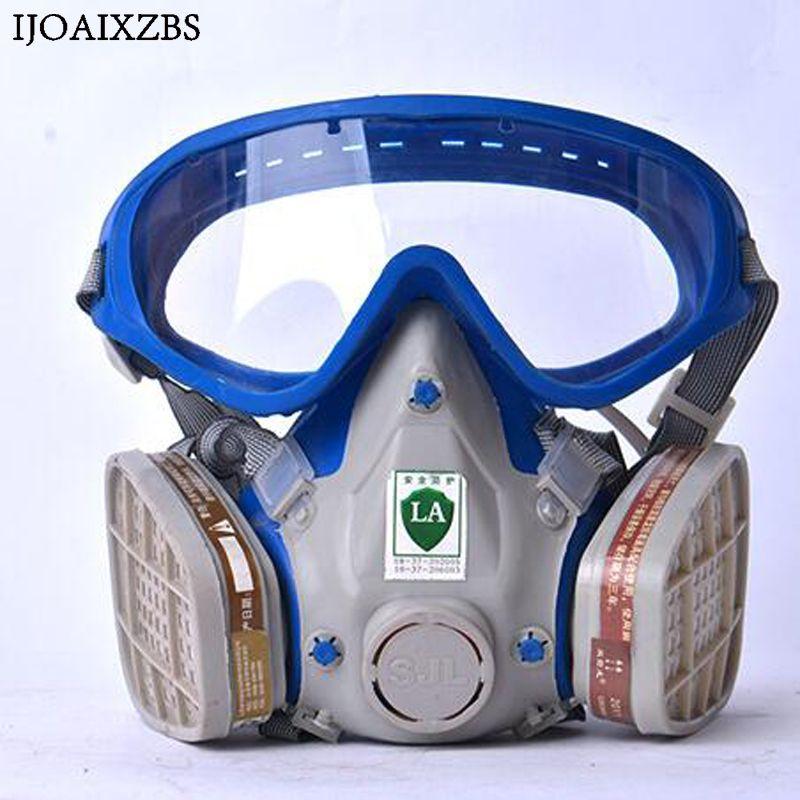 Máscara de polvo del respirador filtro industrial Seguridad protección construcción polen Haze poison gas familia y sitio profesional