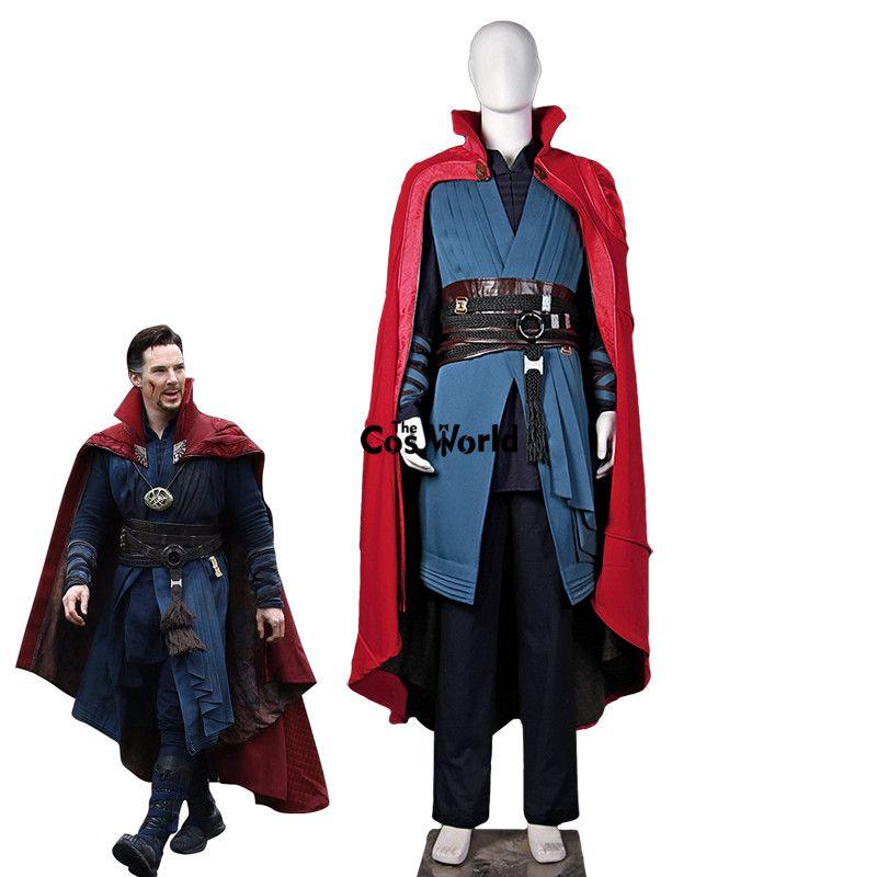 Movie Doctor Strange Dr. Strange Steve Men Battle Suit Uniform Full Set Outfit Halloween Carnival Festival Cosplay Costumes