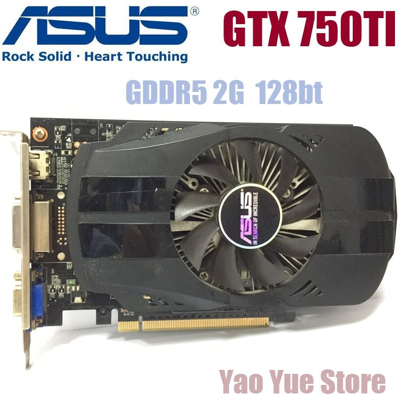 Asus GTX-750TI-OC-2GB GTX750TI GTX 750TI 2G D5 DDR5 128 Bit PC Desktop Graphics Cards PCI Express 3.0 computer Graphics Cards