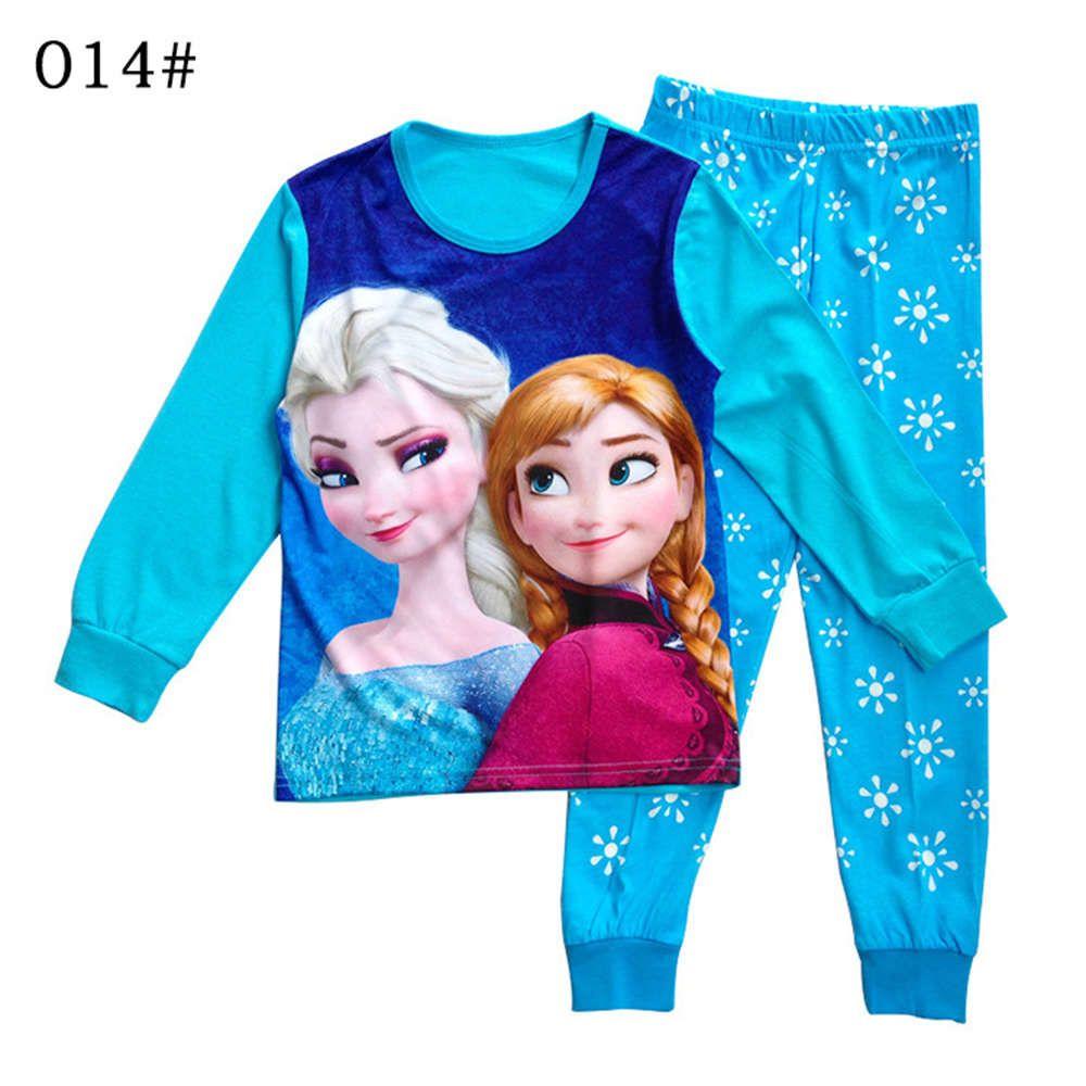 2017 Nouvelle arrivée bébé fille pyjama ensemble enfants bambin pyjama fille enfant pijama infantil enfants fille menina slaapkleding meisjes