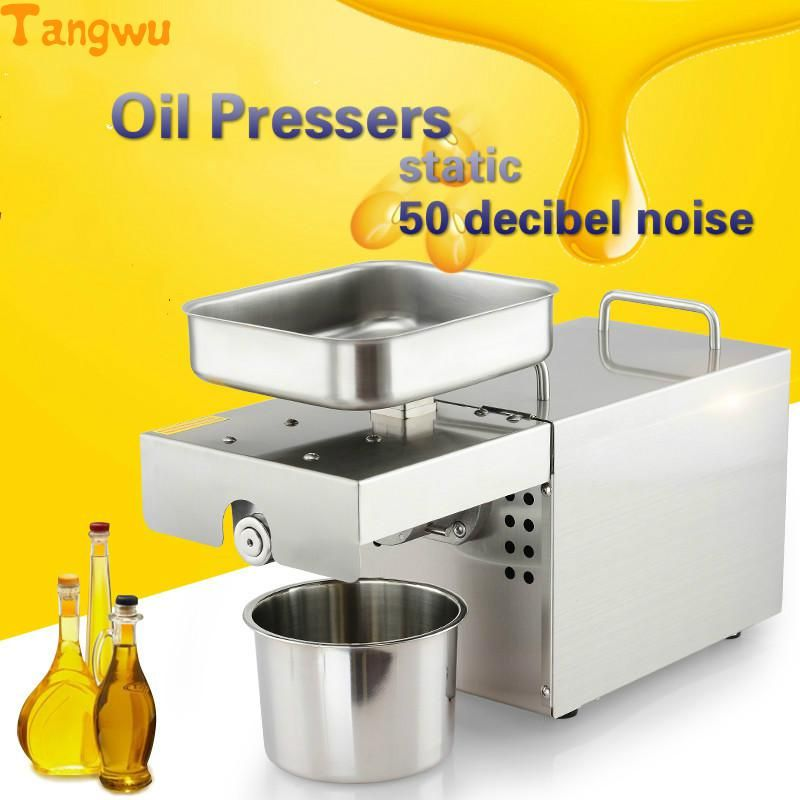 Free shipping cold press hot press machine family automatic frying oil pressed peanut special Oil Pressers