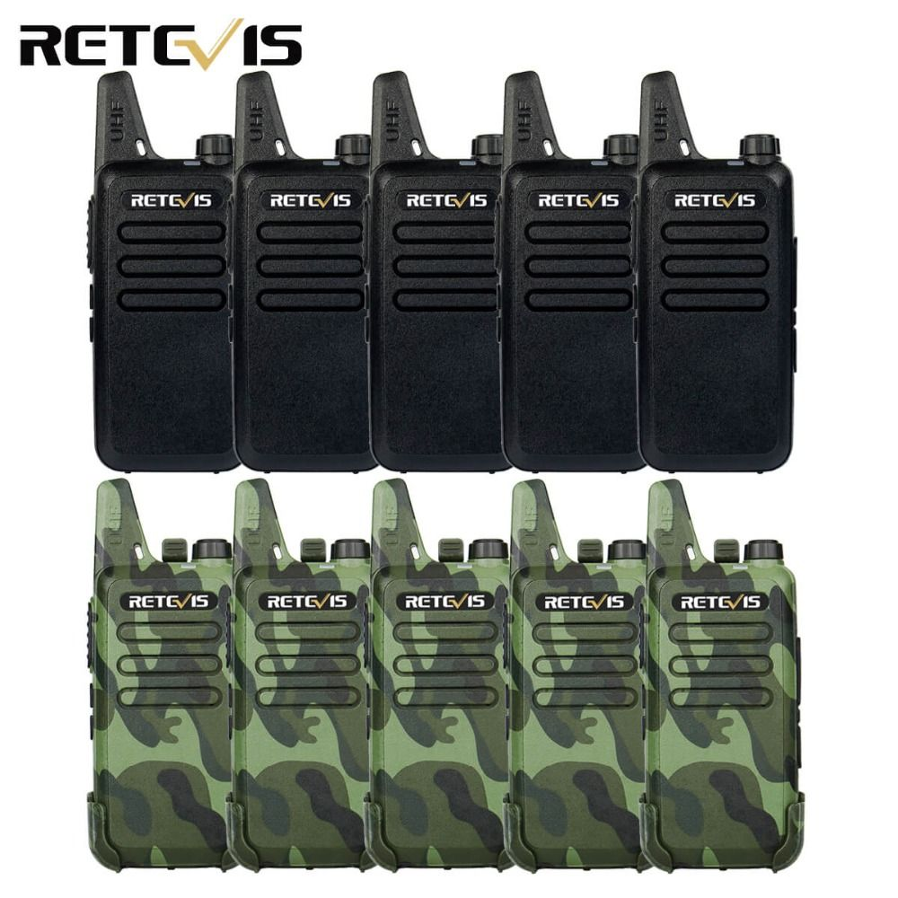 10pcs Walkie Talkie Retevis RT22 Long Range UHF 400-470MHz CTCSS/DCS TOT VOX Scan Squelch Two Way Radio Comunicador A9121A