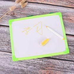 Kids Whiteboard Dry Wipe Board Mini Drawing White Boards With Small Hanging Board Free Marker Pen 18.5cm*24.5cm
