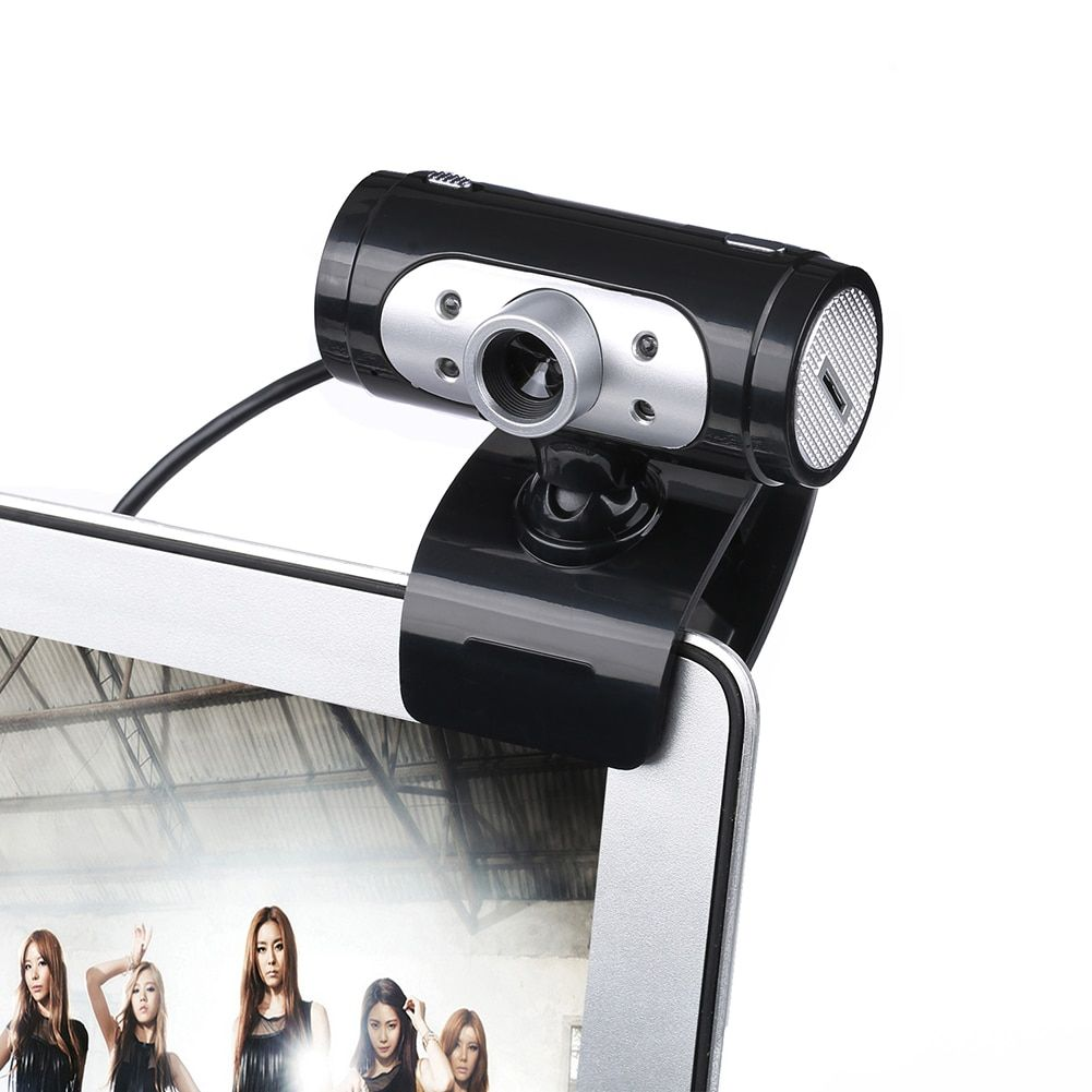 High Definition 1280*720 720 p Pixel 4 LED HD Webcams Web Cam Kamera Mit Nachtlichter Webcam Mic Clip-on Für Computer