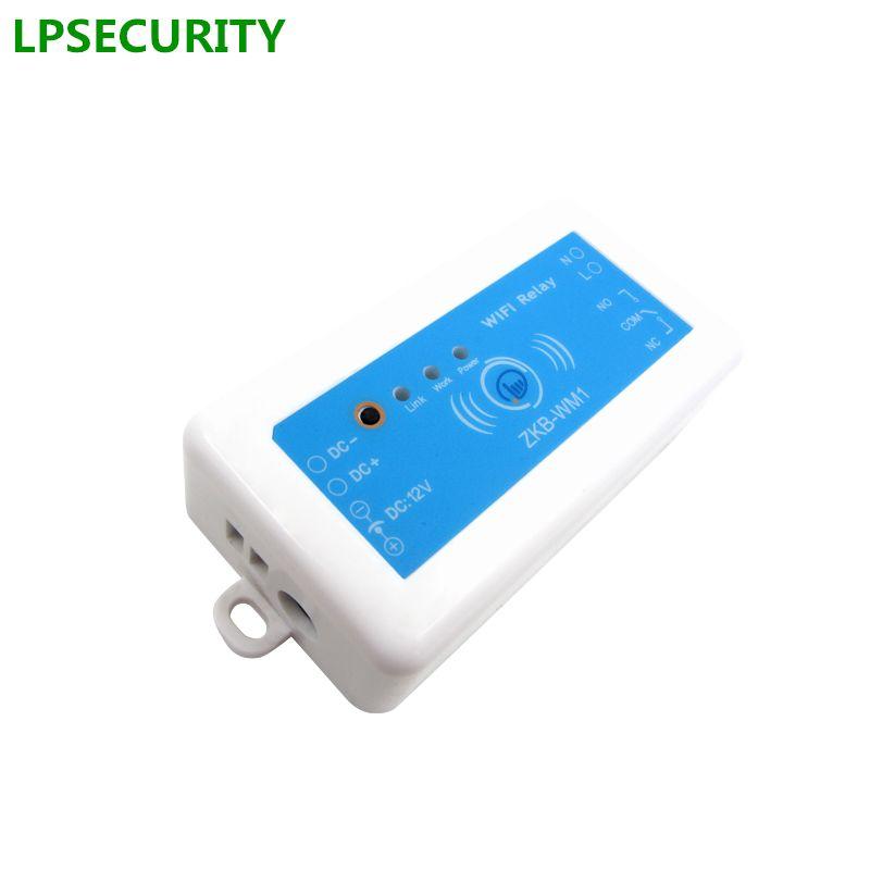LPSECURITY Puerta y Puerta de Control de Acceso Solo Relé Wifi Interruptor Remoto Inteligente Módulo de Soporte IOS Android APP/Wifi Puerta abridor