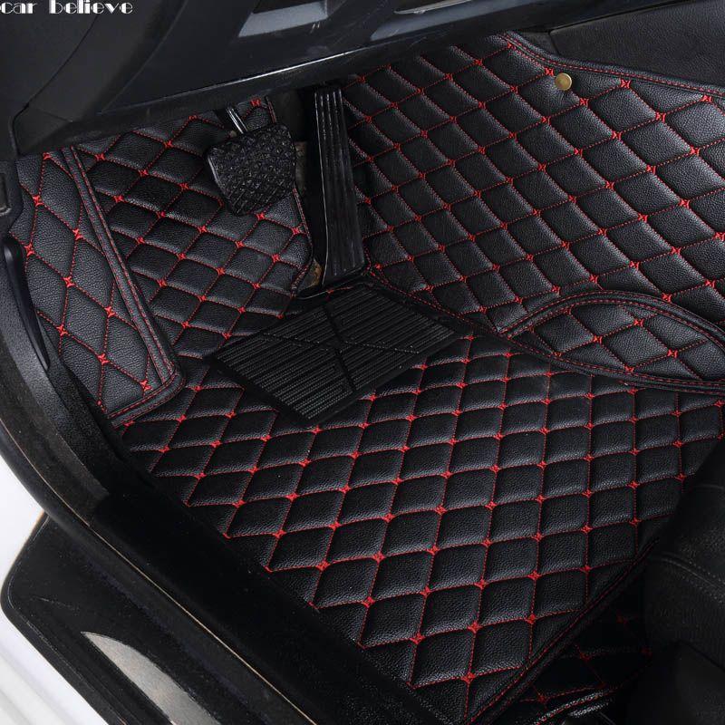 Auto Glauben Auto auto boden Fuß matte Für volvo xc90 s60 v40 s40 xc60 c30 s80 v50 xc70 wasserdichte auto zubehör styling