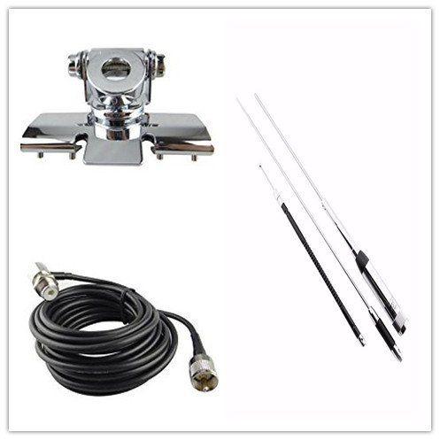 Quad-band Antenne Set für Mobilfunk mit Clip Berg + Huahong HH-9000 Antenn + 5 Mt Kabel Für Auto Radio TYT TH-9800 QYT KT7900D