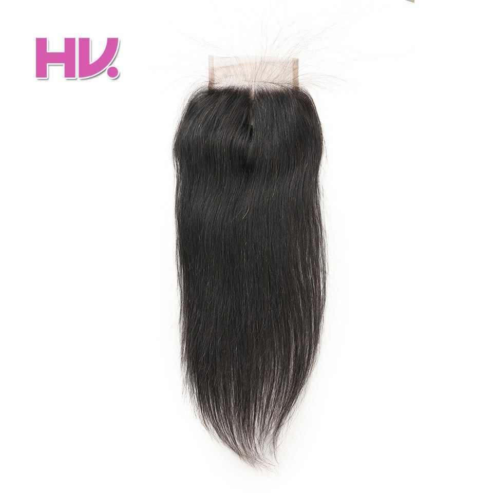 Hair Villa Remy Peruvian Straight Human Hair Lace Closure 4