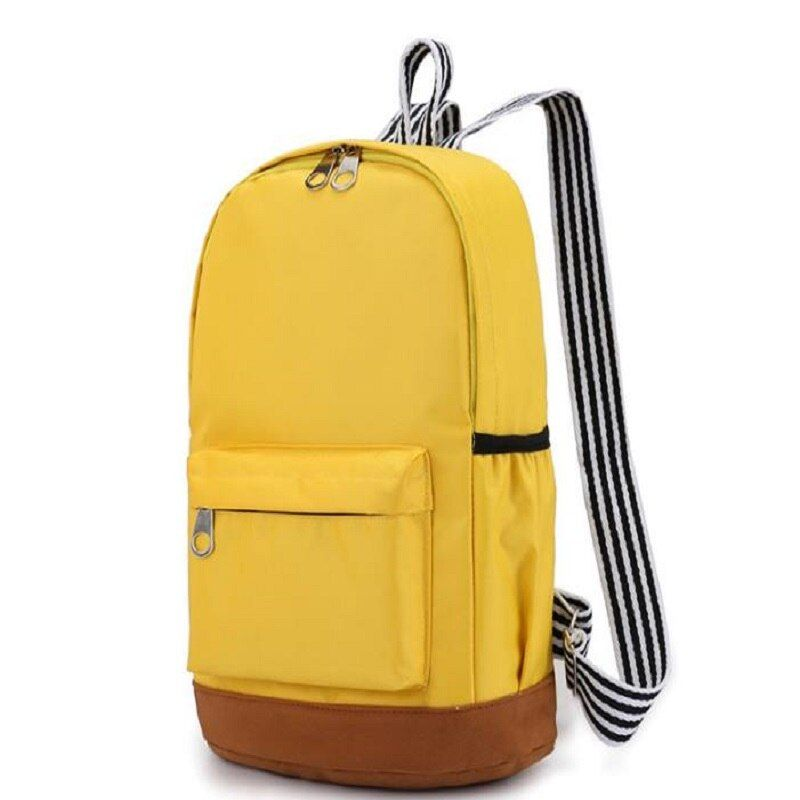 2018 NEW THREE FEATHER pure color elementary school student double shoulder schoolbag. Multiple color selecti H00016L