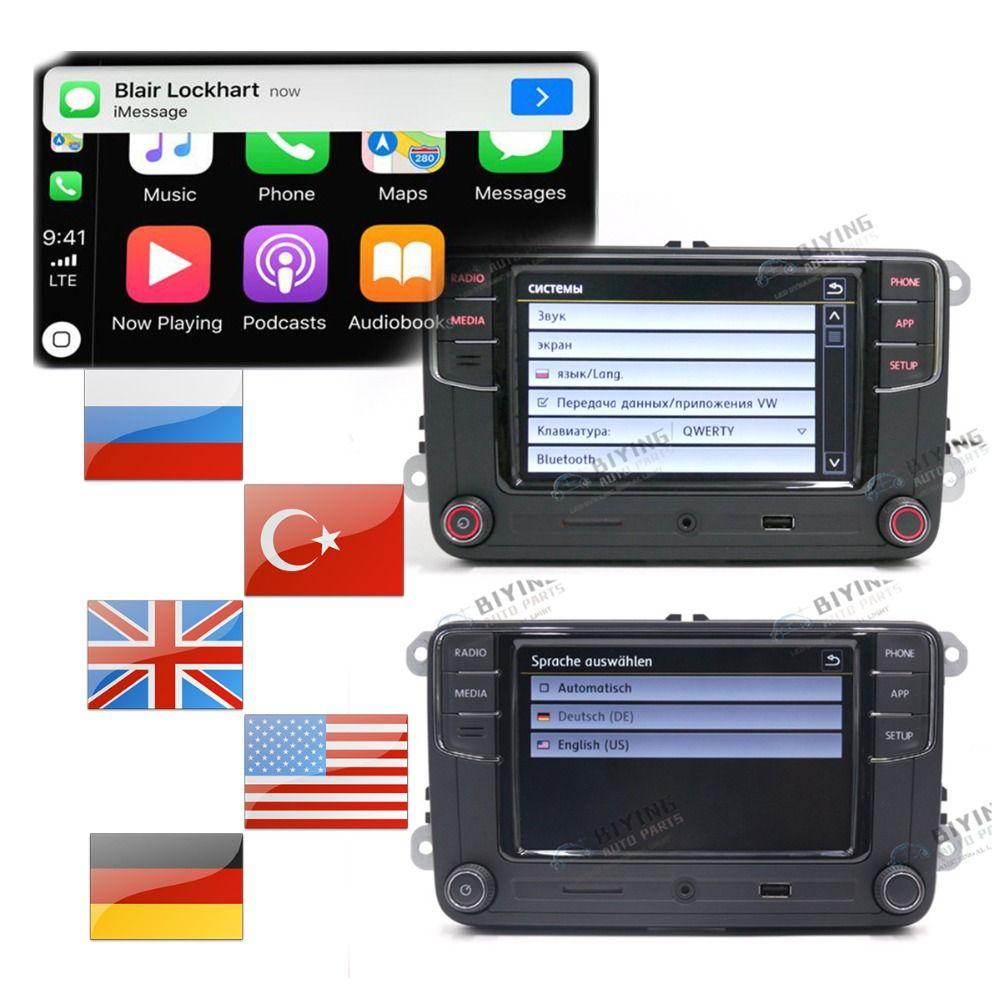 German Russian Turkish Language RCD330 Plus CarPlay Radio For Golf 5 MK5 MK6 CC Tiguan Passat B6 B7 Polo 6RD035187B