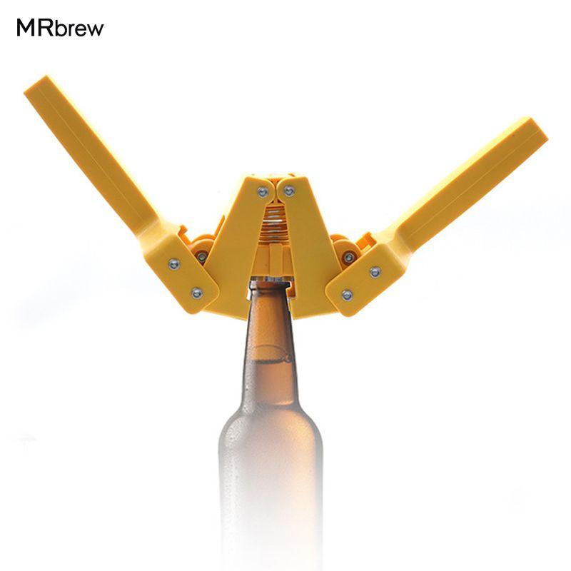 Nouveau Jaune Manuel bière bouteille Capsuleuse pour Home Brew capsules de Bière sur réutilisable en verre bouteilles Top qualité