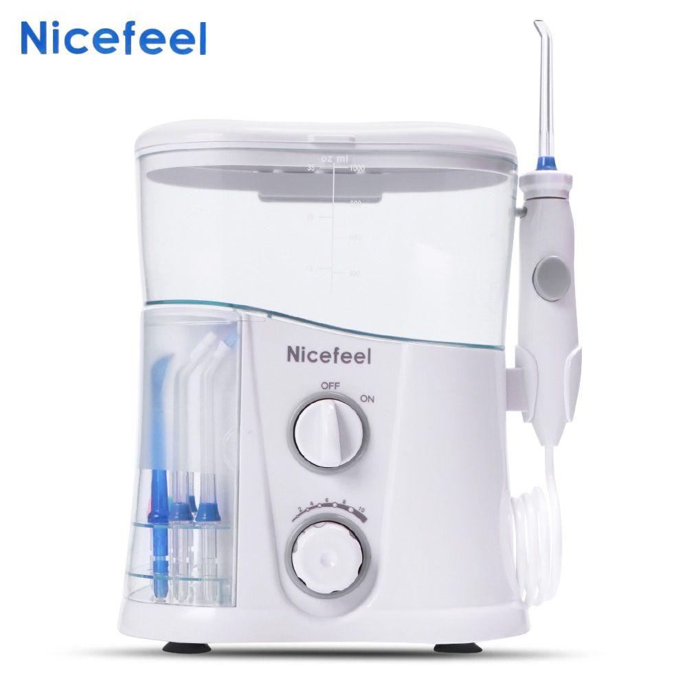 Nicefeel EU Plug 1000ml High-volume Reservoir Dental Water Jet Oral Care Teeth Cleaner Irrigator Removes plaque of teeth