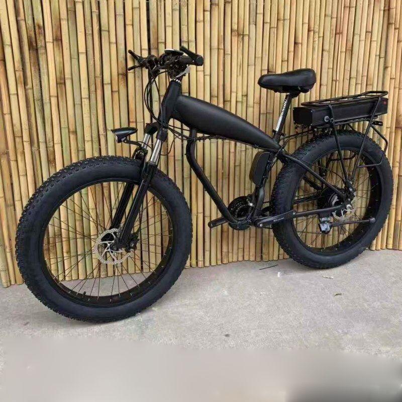Nach 26 zoll Fett reifen ebike 1500W 48V45ah Li-Ion schnee elektrische mountainbike Hydraulische scheiben bremse Doppel lithium-batterie