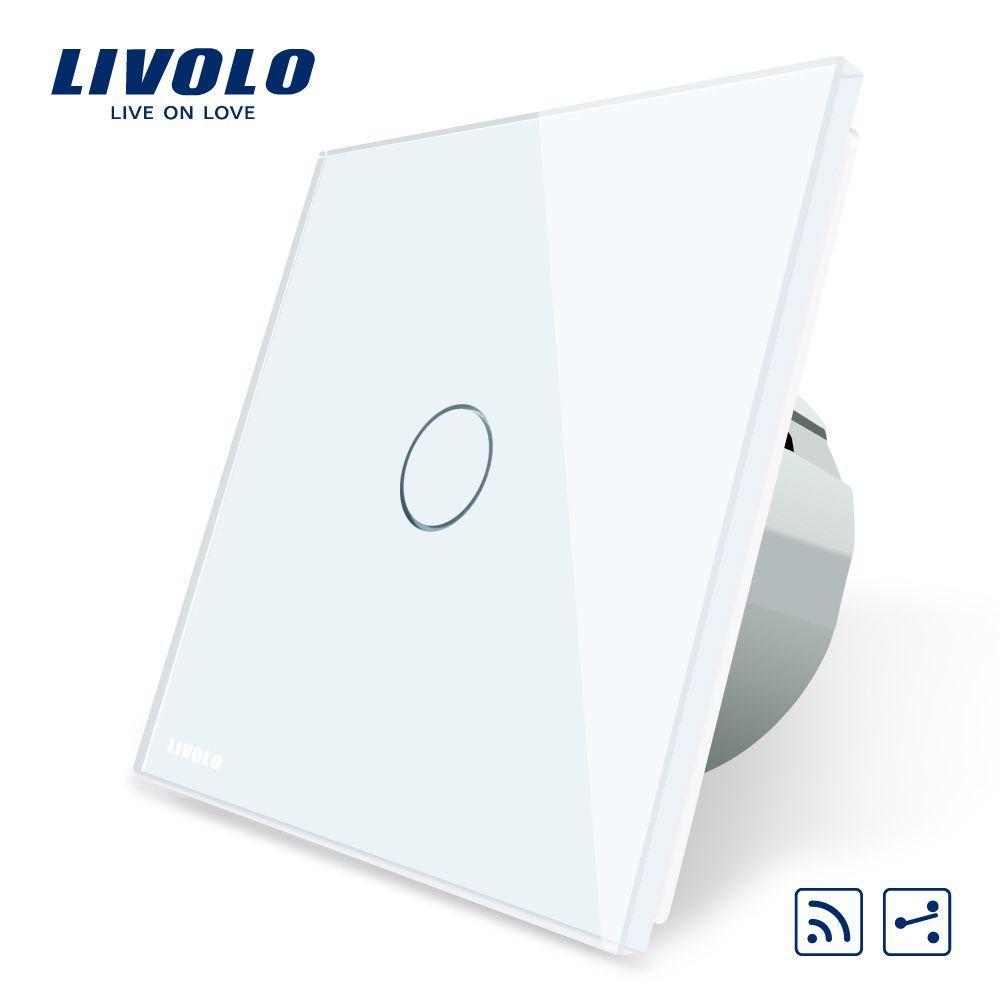 Livolo ЕС Стандартный Беспроводной выключатель 1 Gang 2 Way, AC 220 ~ 250 В, с дистанционным Функция, c701SR-1/2/3/5, без пульта дистанционного управления
