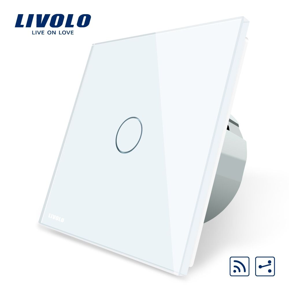 Livolo EU Standard Wireless Switch 1Gang 2 Way, AC 220~250V ,With Remote Function,C701SR-1/2/3/5,no remote controller