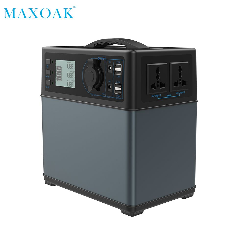 MAXOAK solar power bank charger 400Wh powerbank solar Power Source Generator li-ion Power Supply for Camping Emergency