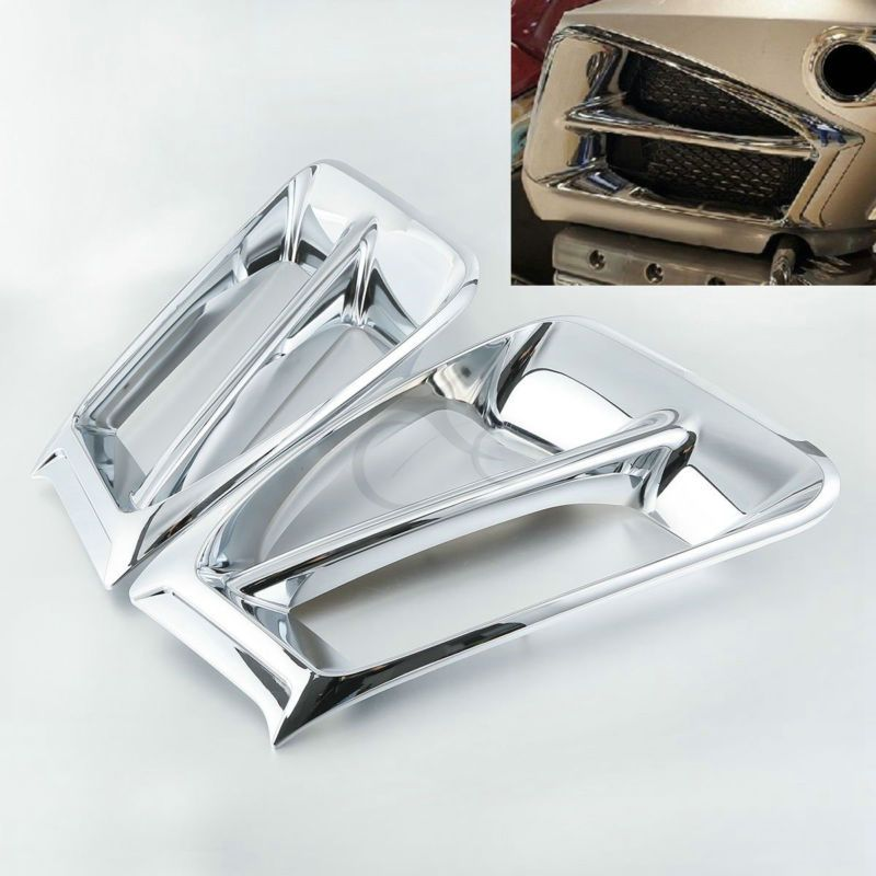 Motorcycle Chrome Air Exhaust Intake Accent Trim For Honda Goldwing 1800 GL1800 2012-2016